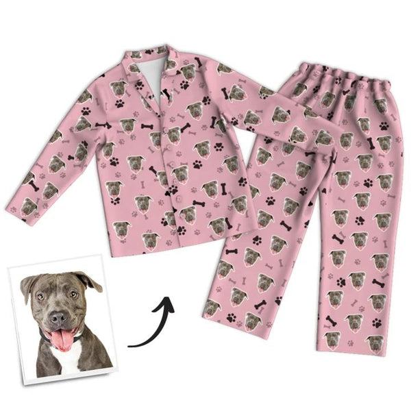 Custom Face Pajamas - Dog And Bone