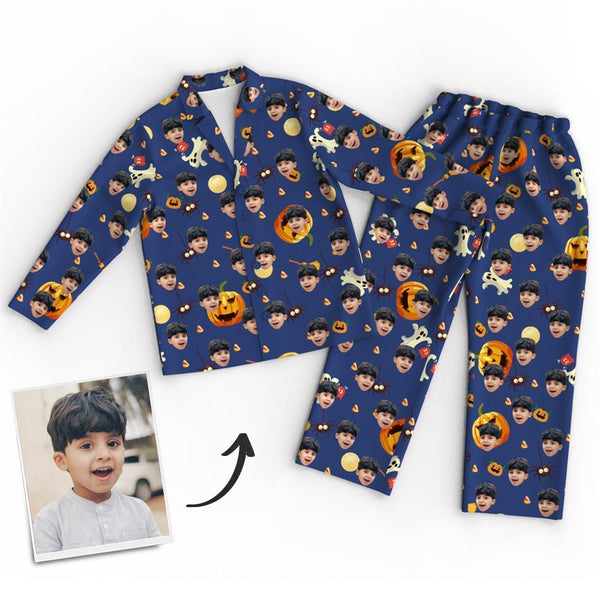Custom Face Pajamas - Pumpkin