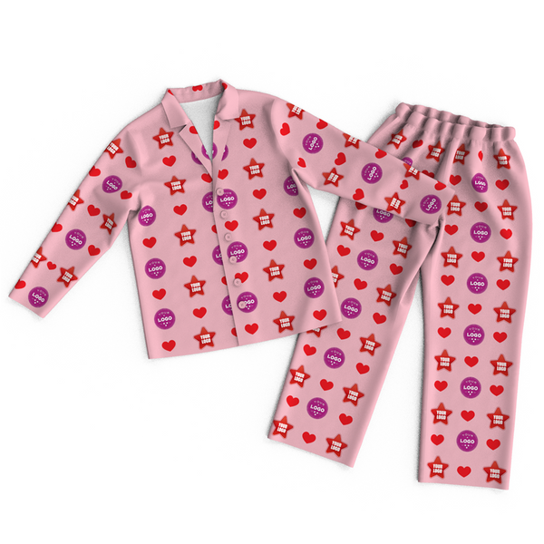 Custom Face Logo Pajamas Heart Personalized Business Gifts