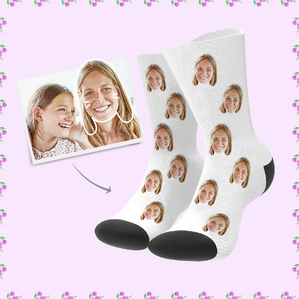 Custom Funny Face Socks Best Mother's Day Gift