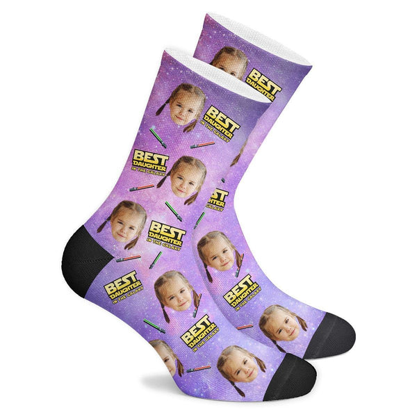 Best Daughter In The Galaxy Custom Socks