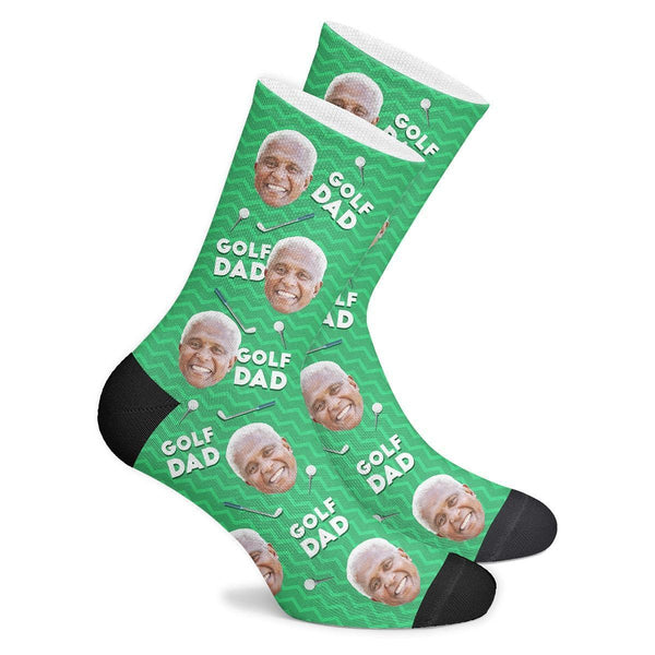 Custom Golf Dad Socks - MyPhotoSocks