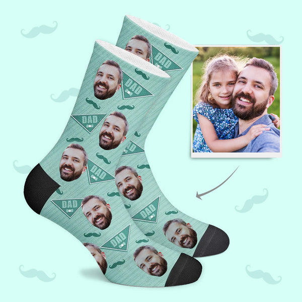 Dad Mustache Custom Socks