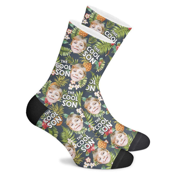 Custom Cool Son Tropical Socks - MyPhotoSocks