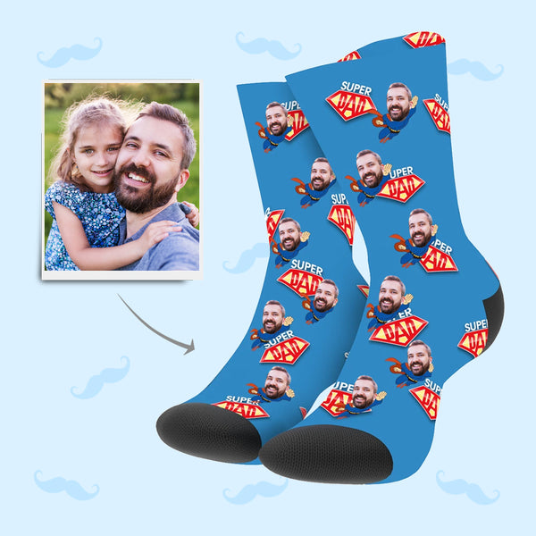 Superhero Dad Custom Socks