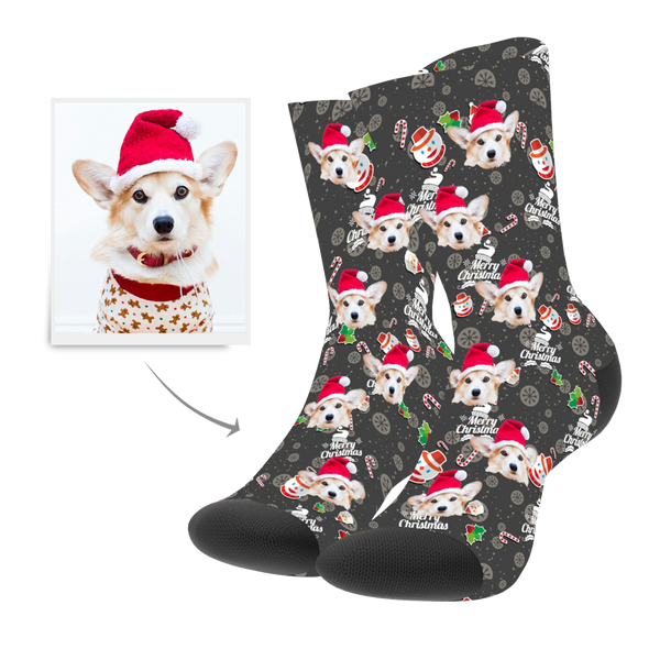 Christmas Snowman Hero Custom Socks