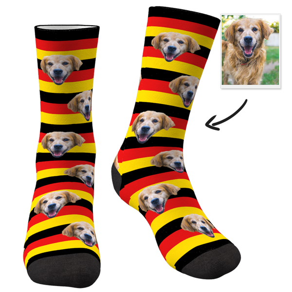 Flag Of Germany With Face Custom Socks