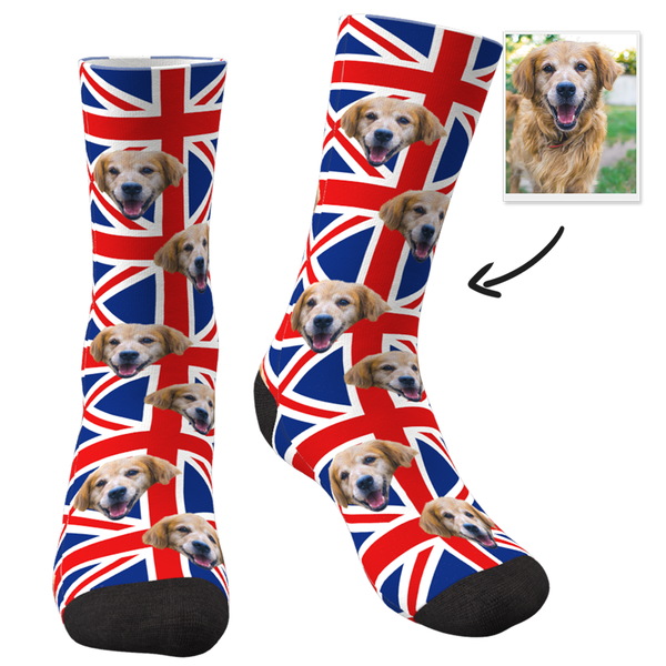 Flag Of The United Kingdom With Face Custom Socks