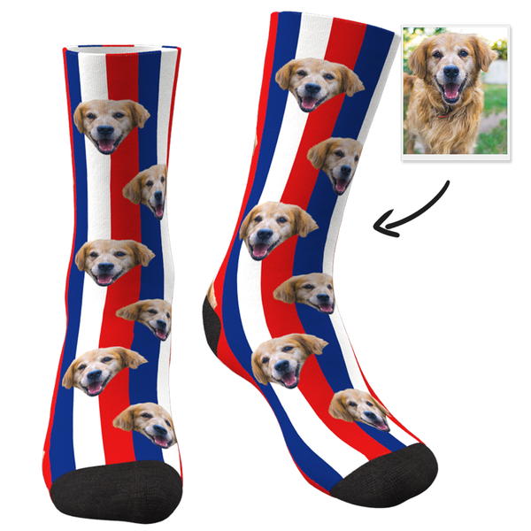 Flag Of France With Face Custom Socks