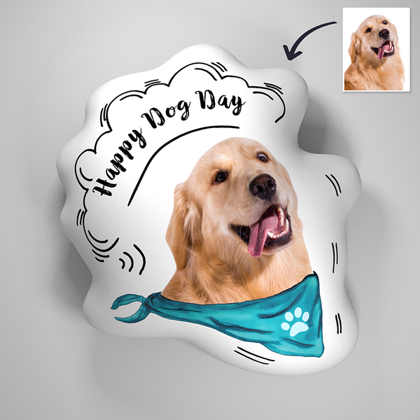 Custom Pet Photo 3D Portrait Pillow With TEXT