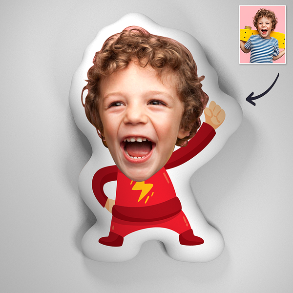 Custom Flash Baby 3D Portrait Pillow