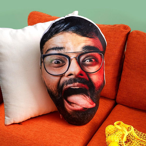 Custom Funny Man Face Toy Pillow