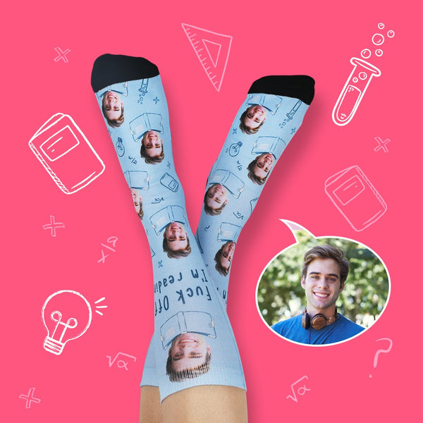 Fuck Off I 'm Reading Back To School Unique Socks Gift