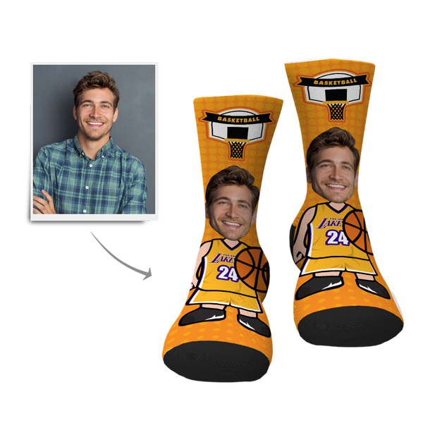 Basketball Player Custom Face Socks
