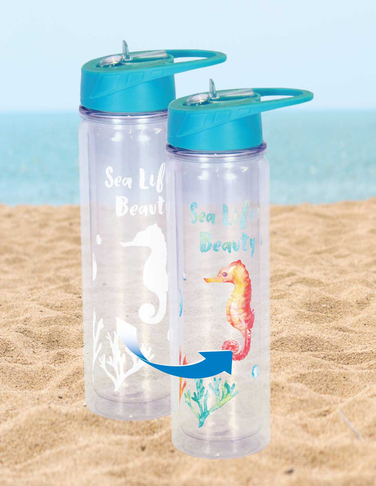 Cold Changing Waterbottle  - Beauty Seahorse
