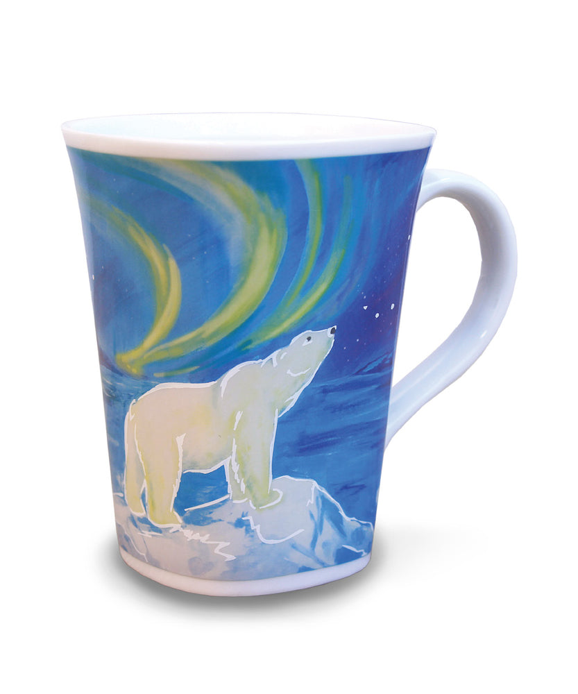 The back of the Polar Bear mug after hot water is added.