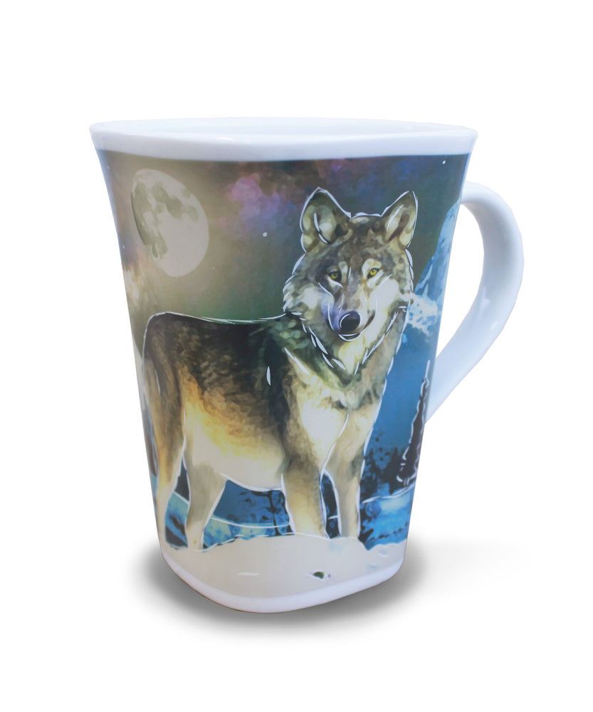 Wolf in the Moonlight - Color Changing Story Mug