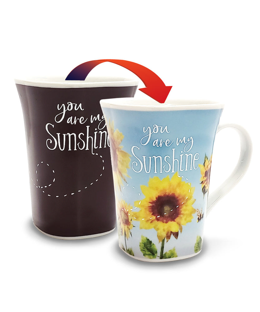 Sunshine - 16oz Color Changing Mug - Heat Changing Mug - Unique Coffee Mug - Magic Mug