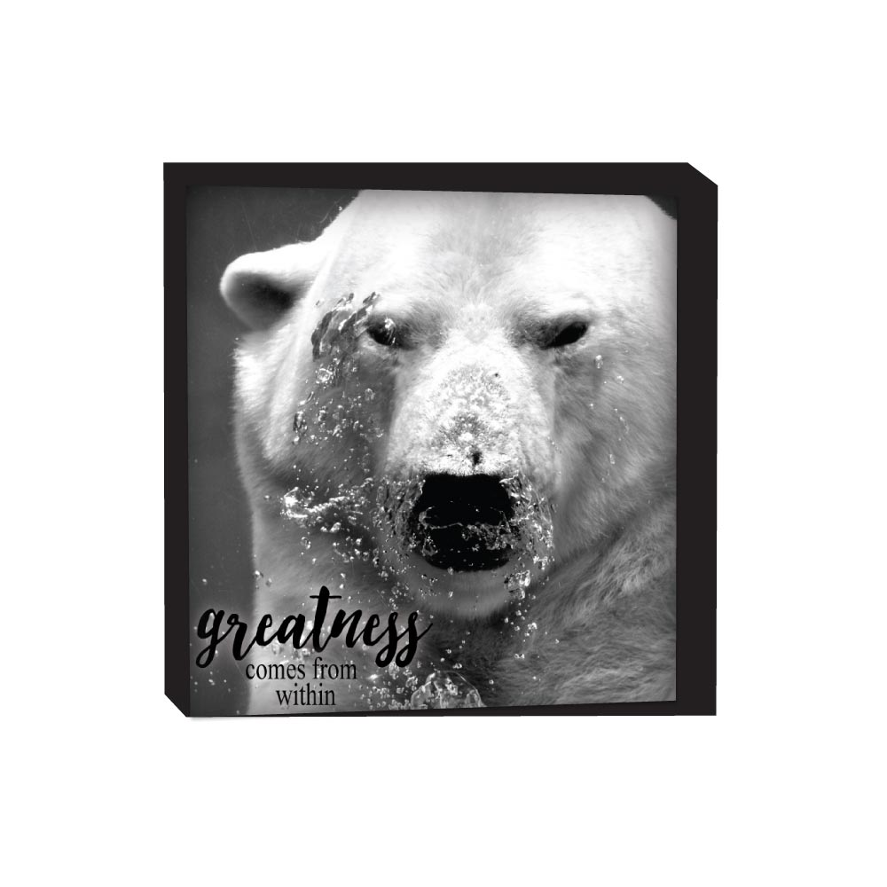 Block Sign - Polar Bear