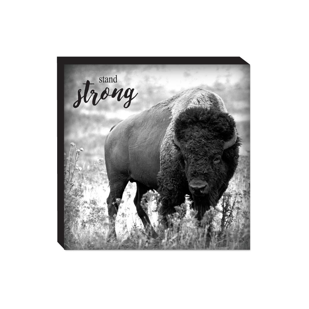 Block Sign - Bison