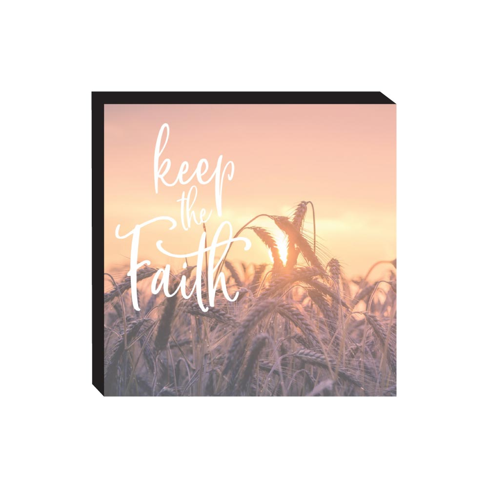 Block Sign - Keep the Faith