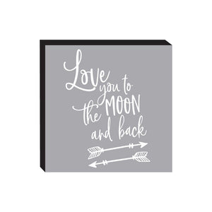 Block Sign - Moon and Back