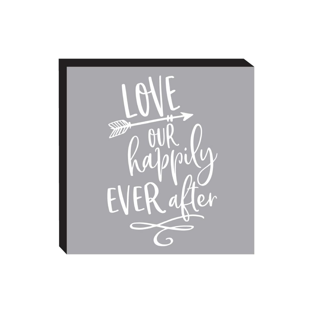 Block Sign - Love Our Happily