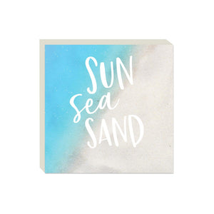 Block Sign  - Sun Sea Sand