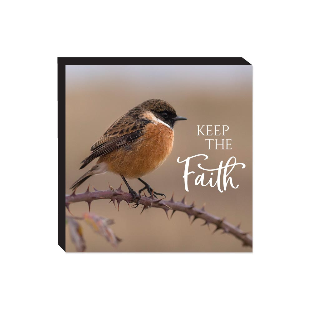 Block Sign - Wildbirds - Faith