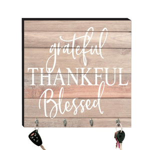 10.5in Key Hook - Grateful Thankful Blessed - Ollee Bee