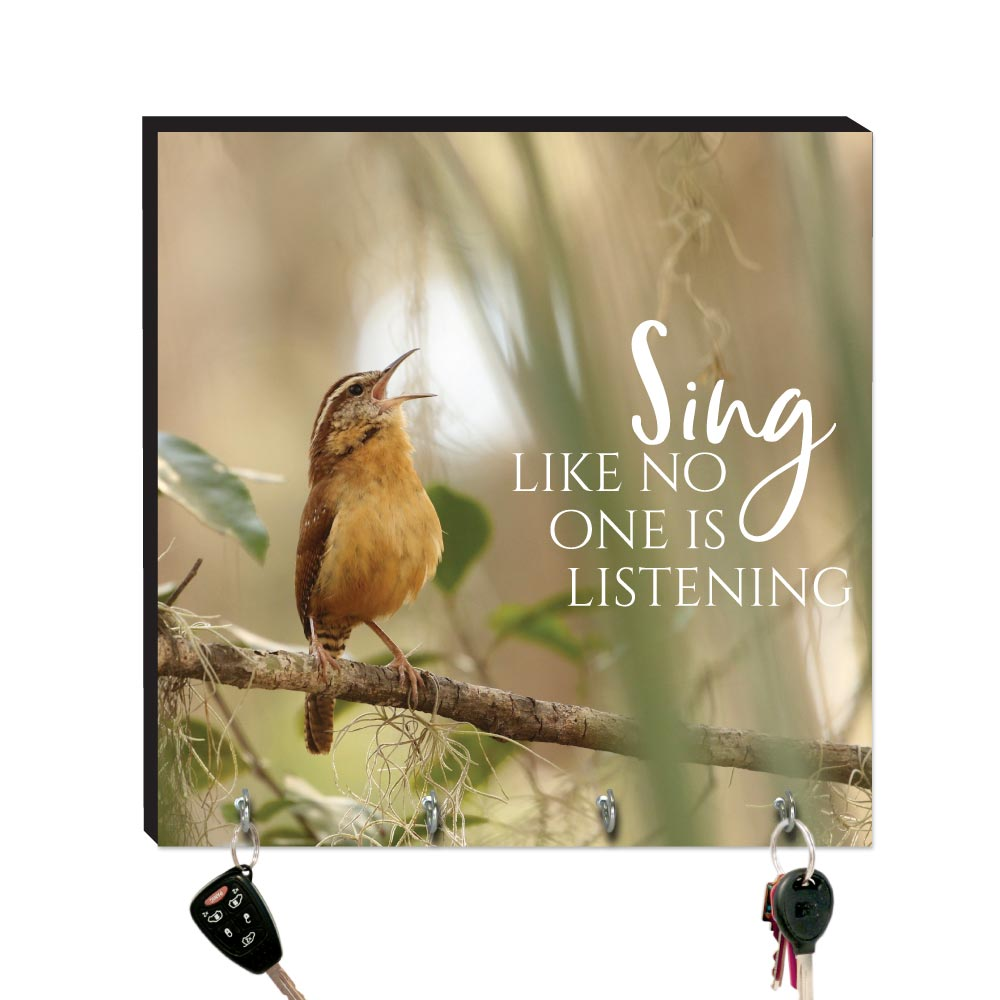 10.5in Key Hook - Wildbirds - Sing