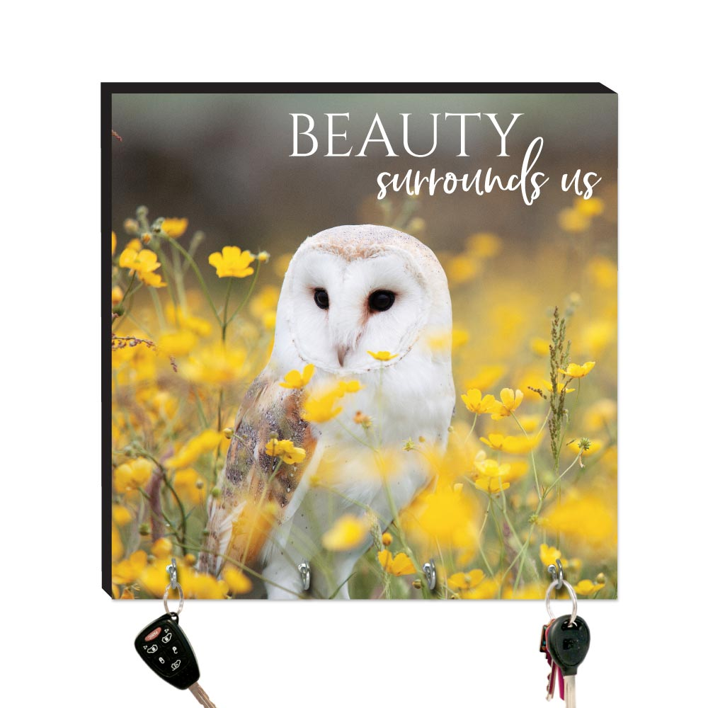 10.5in Key Hook- Wildbirds - Beauty