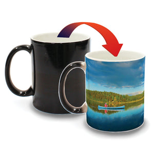 Minnesota Blue Sky Canoe on Lake - D1 - Color Changing Mug Experience