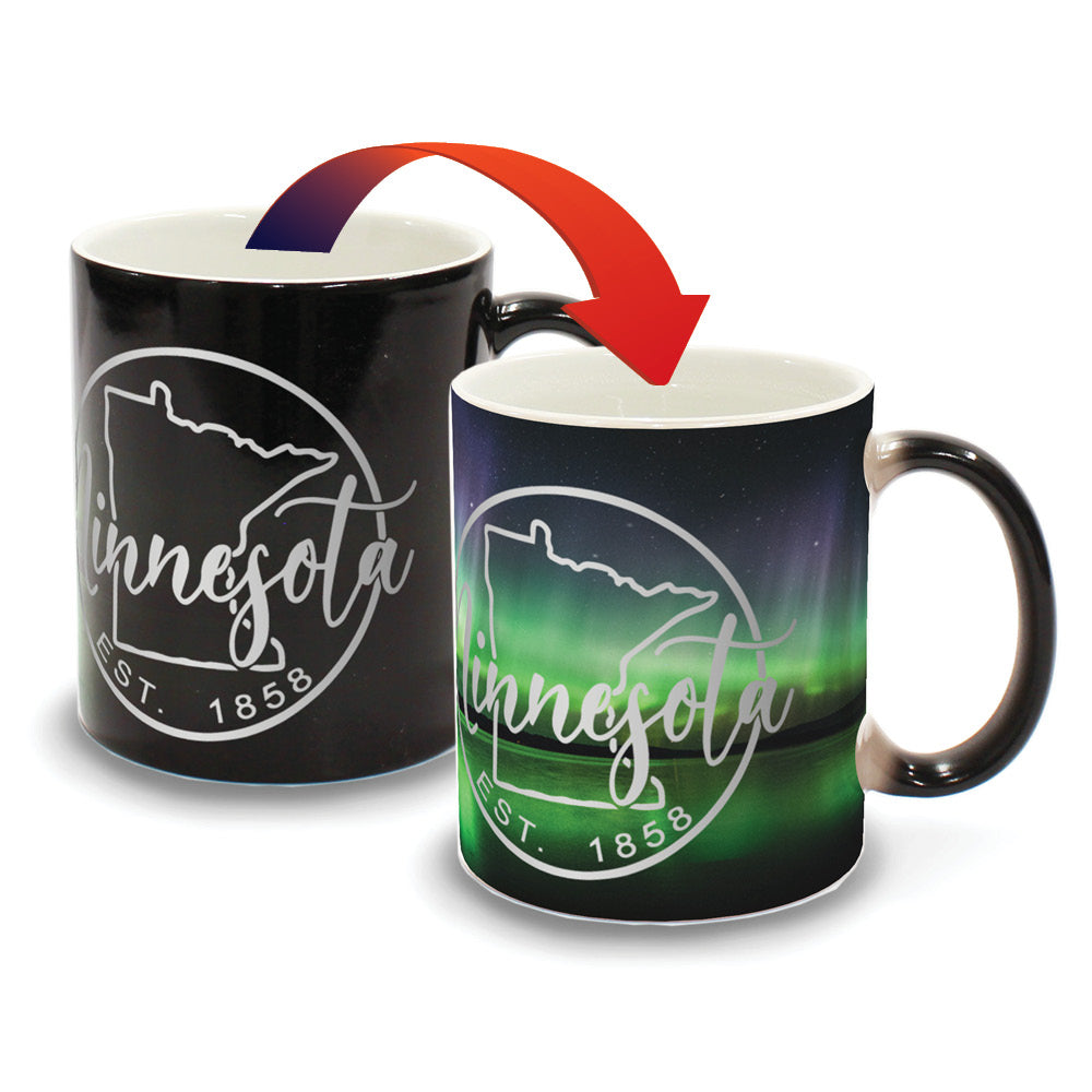 Minnesota Northern Lights Lake - D8 - Color Changing Mug Experience