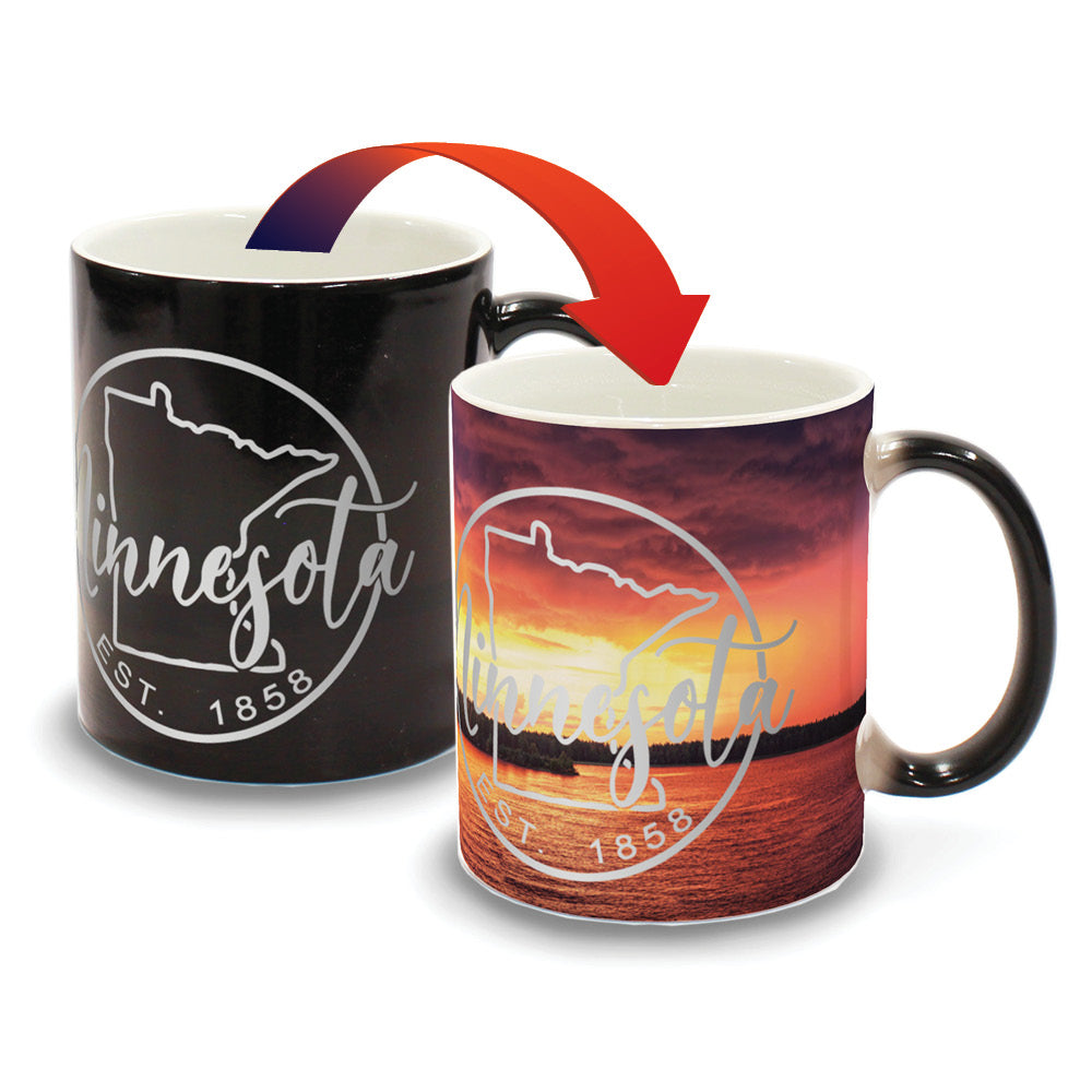 Minnesota Sunset on Lake - D3 - Color Changing Mug Experience