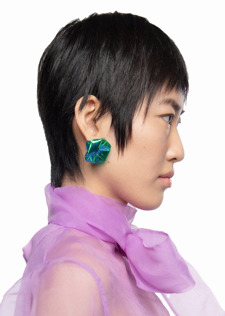 CCHEN2G | I AM:EMERGING SINGLE CRYSTAL EARRINGS