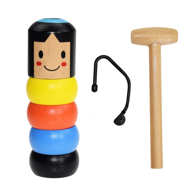 Stubborn Wood Man Toy