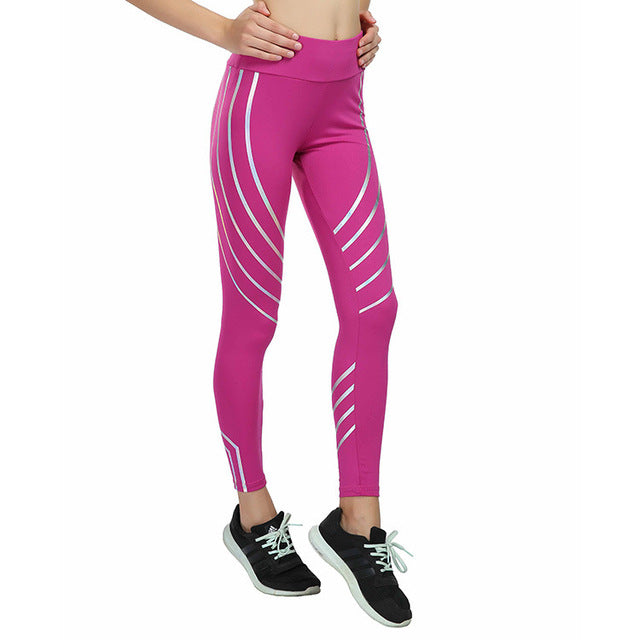 Stripe Luminous Fitness Leggings