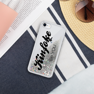 "Open image in slideshow, Kinfoke ""Be YOU"" Liquid Glitter Phone Case"