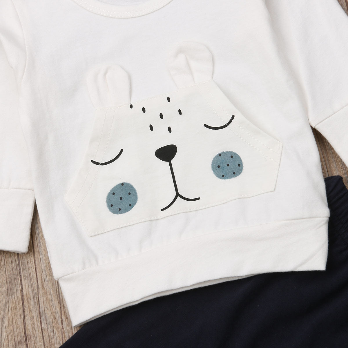 Bear Warm Winter Tops Baby T-shirt Pants - POSHHUGZ