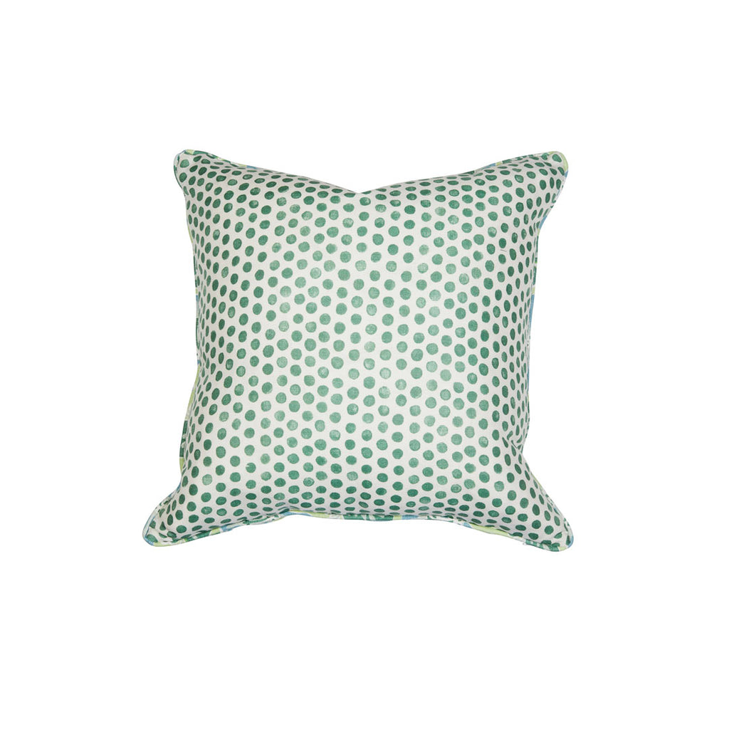 Anna Spiro Oahu Seafoam & Lisa Fine Tika Palm Cushion