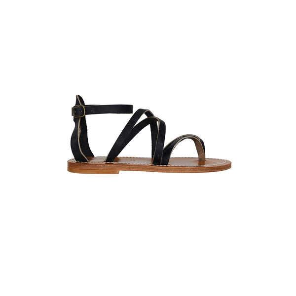 Epicure Pul Black Sandals
