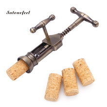Carica l'immagine nel visualizzatore di Gallery, Cork Wine Opener Creative Bottle Metal Opener Antique Vintage Style Rack Pinion Corkscrew Kitchen Bar Gadgets - Sapuri Calabrisi
