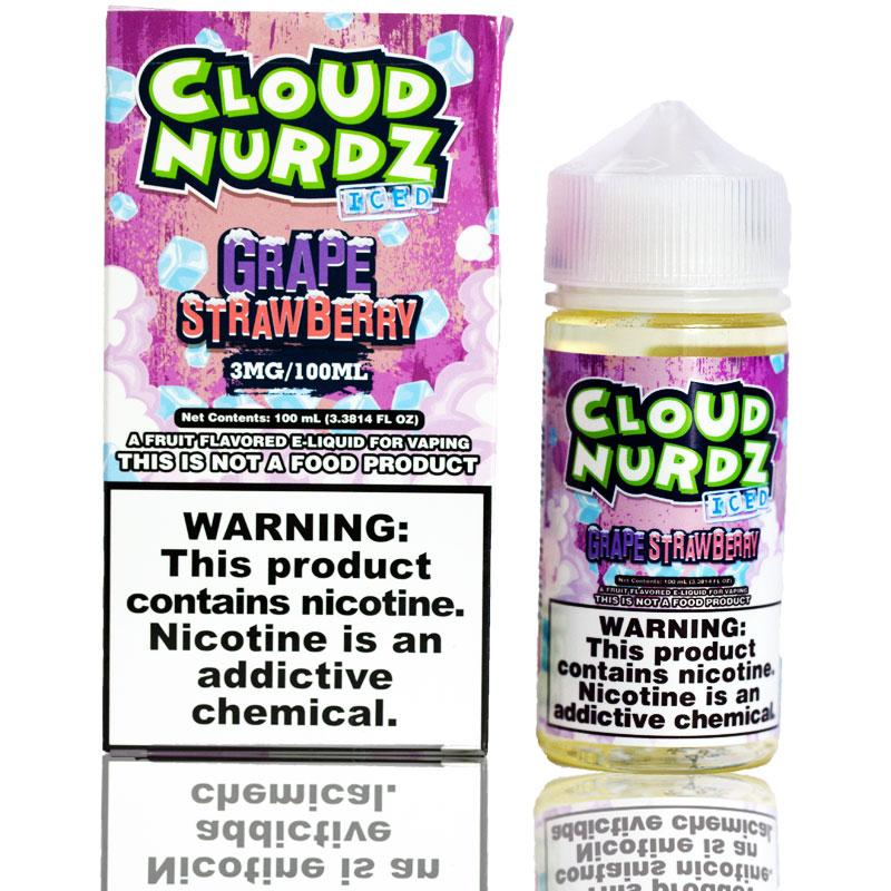 Cloud Nurdz Grape Strawberry Iced | $11.49 | Fast Shipping