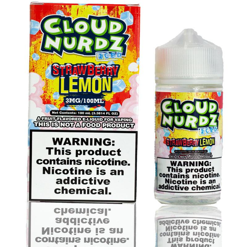 Cloud Nurdz Strawberry Lemon Iced | $11.49 | Fast Shipping