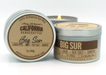 Coastal California Three Candle Set -  Soy Candle in Travel Tin