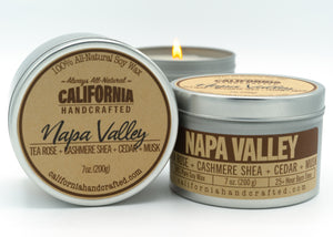 Iconic California * BIG BEAR - NAPA VALLEY - PALM SPRINGS* Premium Pure All-Natural Soy Wax Curated Three Scented Candle Set in Travel Tin