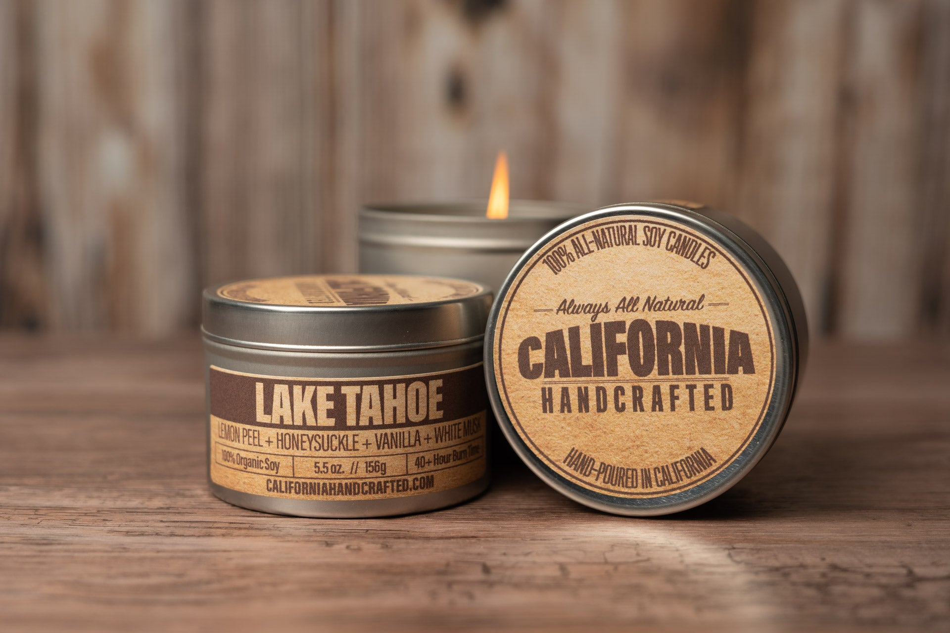California Road Trip Three Candle Set -  Soy Candle in Travel Tin