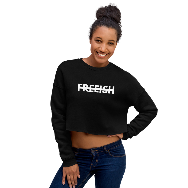 Freeish Logo Crop Sweatshirt