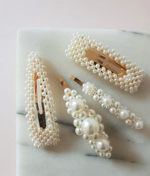 THE BEST-LOVED CHUNKY PEARL HAIR CLIP PACK